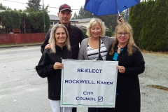 2017 canvassing with Karen Rockwell