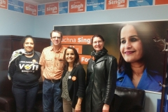 2017 canvassing with Rachna Singh